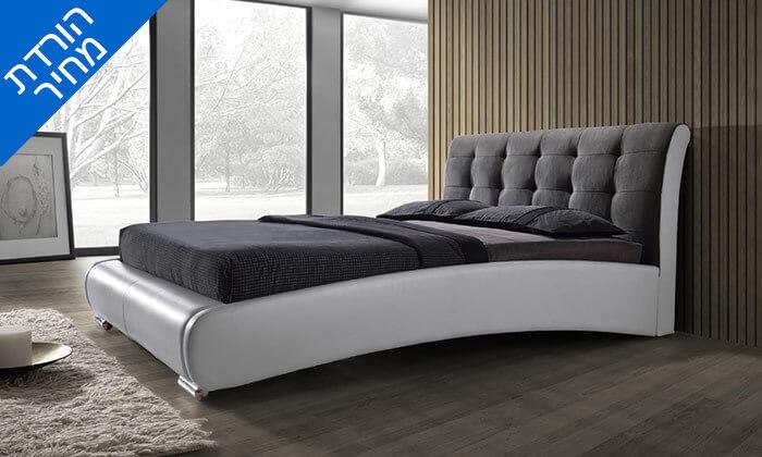 4 מיטה זוגית מרופדת בעיצוב מעוגל HOME DECOR, דגם שריל