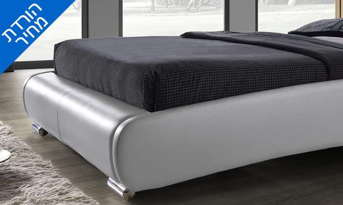 3 מיטה זוגית מרופדת בעיצוב מעוגל HOME DECOR, דגם שריל