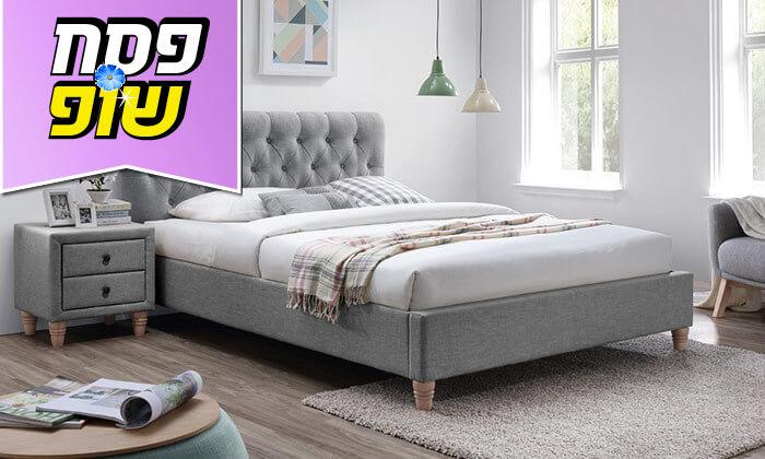 6 מיטה זוגית מרופדת וזוג שידות HOME DECOR