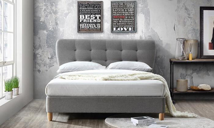 4 מיטה זוגית מרופדת HOME DECORדגם טנגו