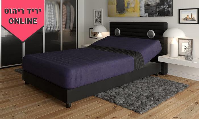4 מיטה אורתופדית חשמלית ברוחב וחציRAM DESIGN - צבעים לבחירה