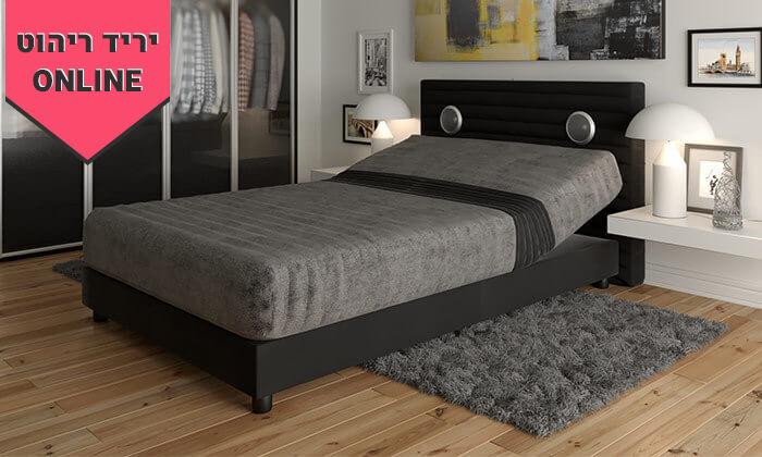 5 מיטה אורתופדית חשמלית ברוחב וחציRAM DESIGN - צבעים לבחירה