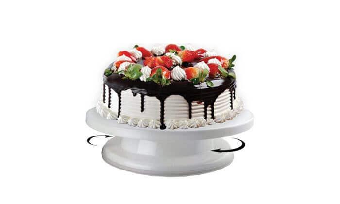 2 מעמד מסתובב לקישוט העוגה