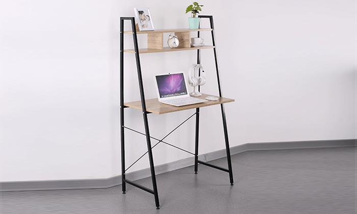 2  שולחן מחשב עם מדף עליון מחולק
