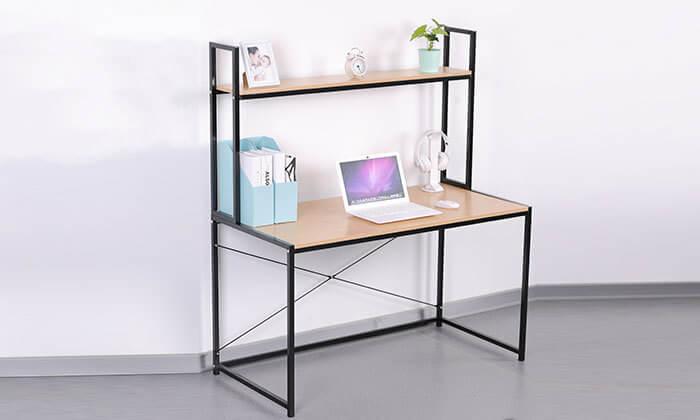 2 שולחן מחשב כולל מדף -