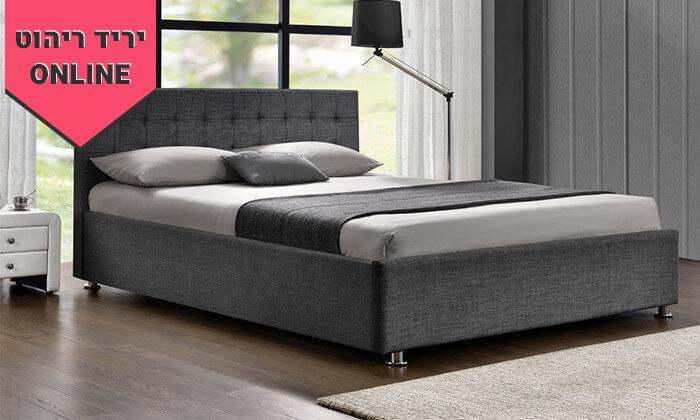 4 מיטה זוגית מרופדת HOME DECOR, דגם עופרה