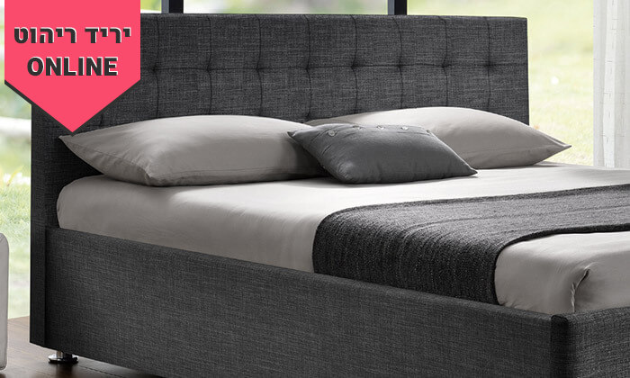 3 מיטה זוגית מרופדת HOME DECOR, דגם עופרה