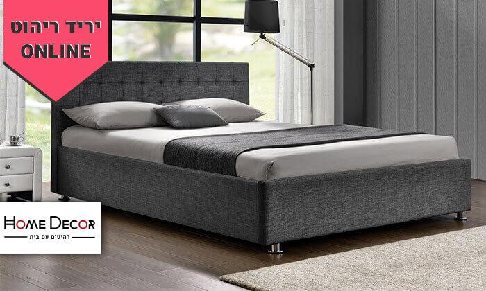2 מיטה זוגית מרופדת HOME DECOR, דגם עופרה