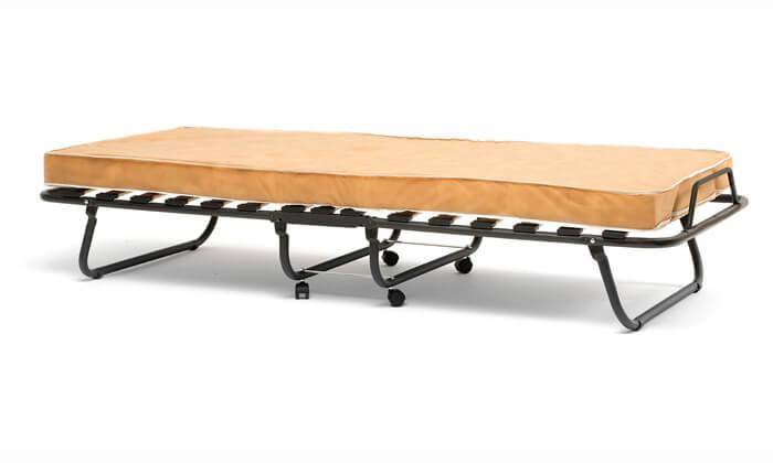 8 מיטה מתקפלת LUCCA על גלגלים כולל מזרן
