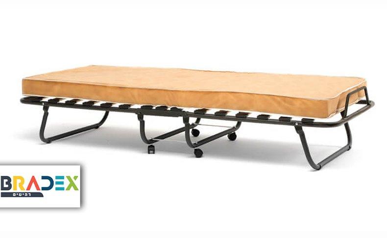 מיטה מתקפלת על גלגלים עם מזרן