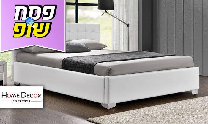 2 מיטה זוגית מעוצבת HOME DECOR, דגם לורי