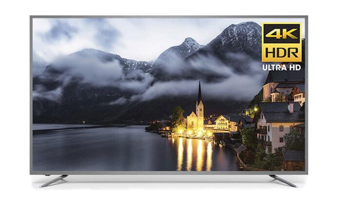 טלוויזיה חכמה Peerless 4K, מסך 75 אינץ'