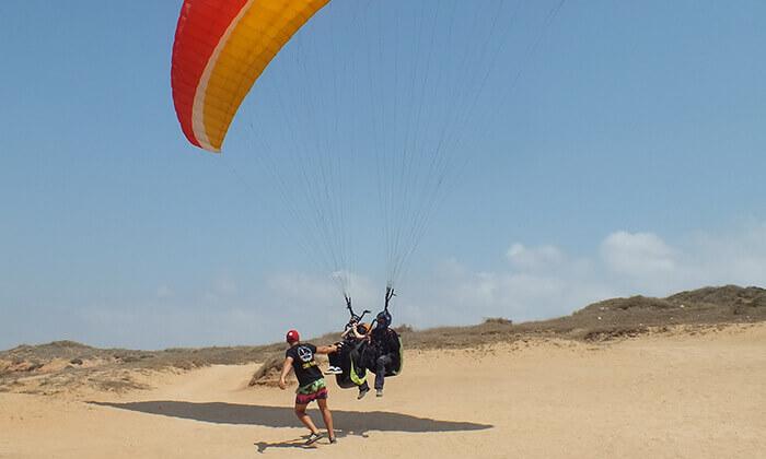 4 RCP מצנחי רחיפה - טיסת רחיפה, חוף ארסוף קדם