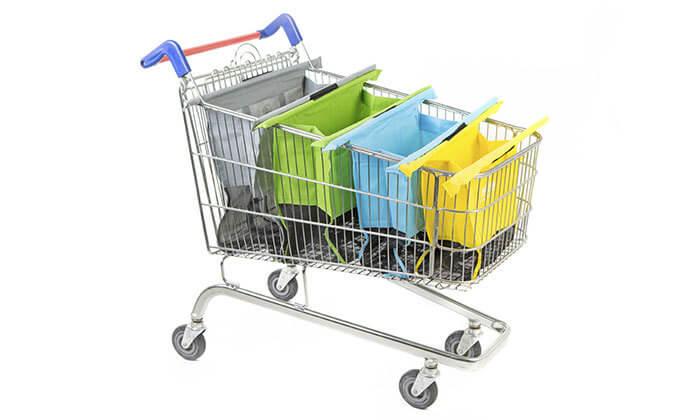 3 2 תיקי קניות Trolley Bags המקורי לעגלת הקניות - משלוח חינם
