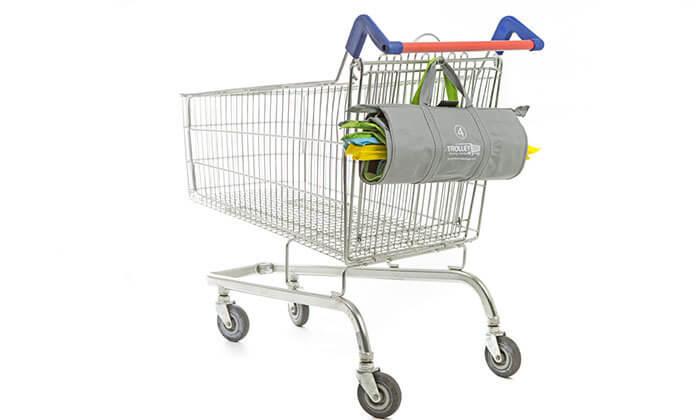 4 2 תיקי קניות Trolley Bags המקורי לעגלת הקניות - משלוח חינם