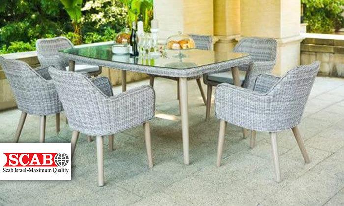 2 פינת אוכל לגינה עם כסאות תואמים