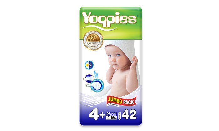 6 5 חבילות חיתולי פרימיום Yoppies