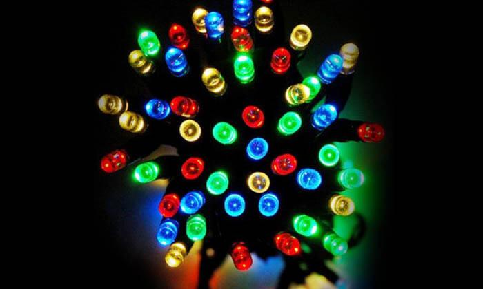 8 שרשרת נורות LED סולאריות