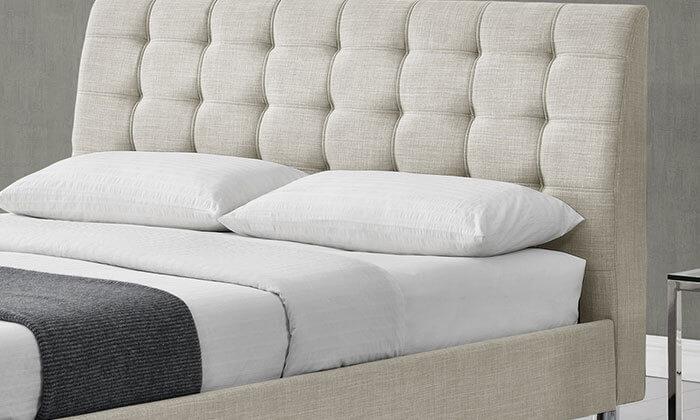 3 מיטה זוגית בריפוד בד HOME DECOR דגם דרבי