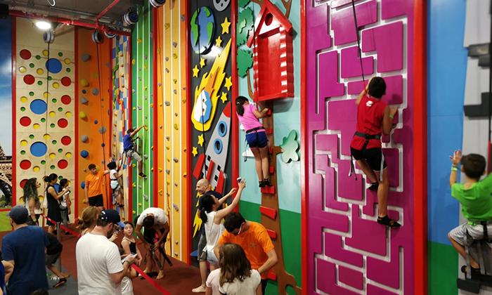 3 כניסה למתחם הטרמפולינות Sky Jump, תל אביב