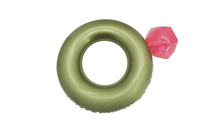 2 מזרן מתנפח בצורת טבעת יהלום פול פארטי - POOL PARTY