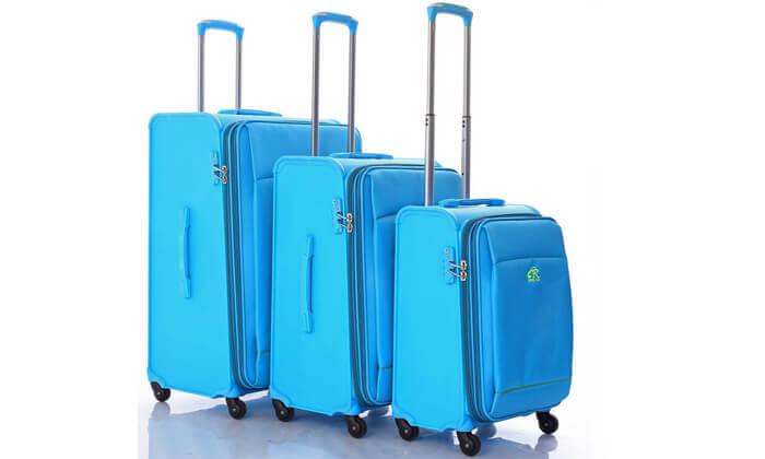 3 מזוודהחצי קשיחה חצי בד כאמל מאונטיין - CAMEL MOUNTAIN - משלוח חינם!