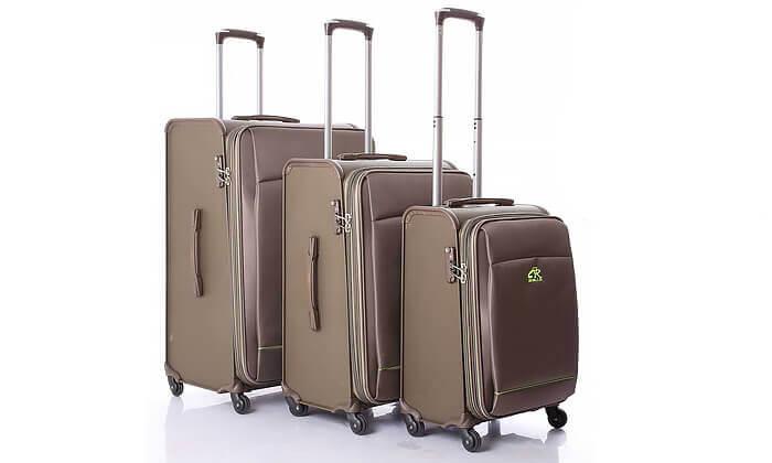 2 מזוודהחצי קשיחה חצי בד כאמל מאונטיין - CAMEL MOUNTAIN - משלוח חינם!