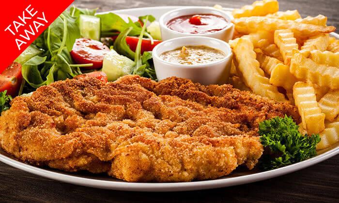2 ארוחה בשרית כשרה ב-T.A ממסעדת עולם האוכל, חיפה