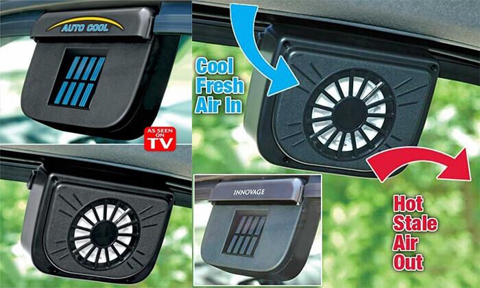 5 מאוורר סולארי לרכב