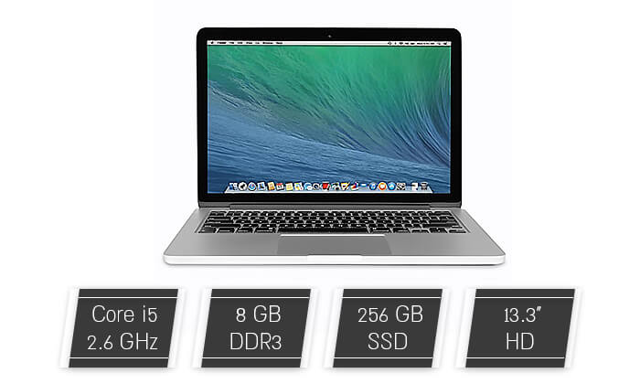2 Apple MacBook Pro Retina עם מסך 13.3 אינץ'