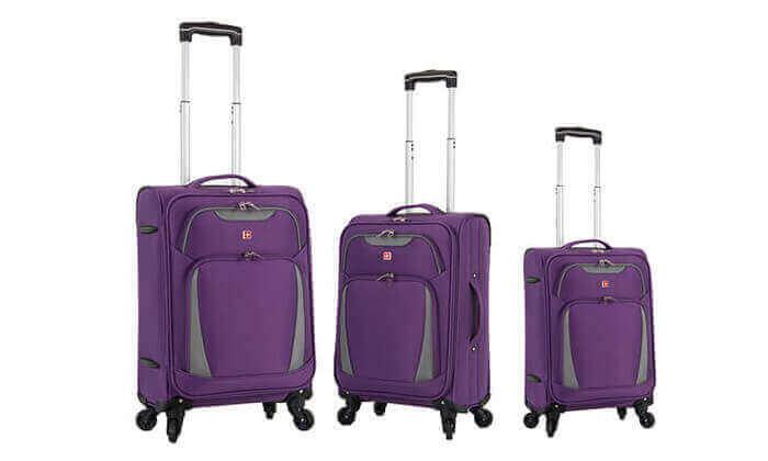6 סט 3 מזוודות סוויס SWISS