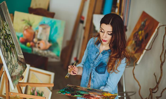 2 קורס ציור למבוגרים בסטודיו לציור בנס ציונה