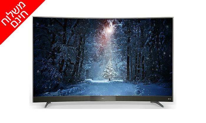 2 טלוויזיה קעורה SMART TCL, מסך 49 אינץ' - משלוח חינם