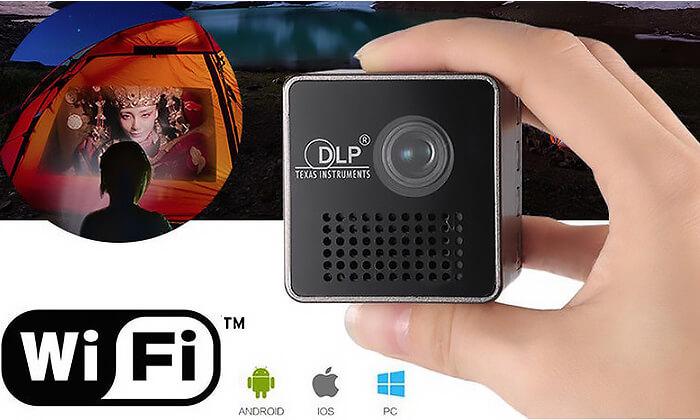 3 מקרן מולטימדיה אלחוטי נייד DLP  - משלוח חינם