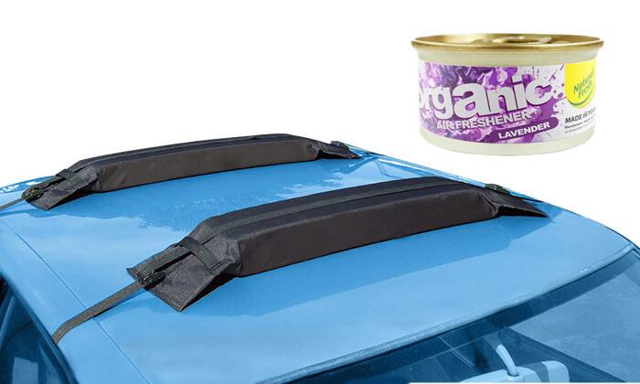 2 גגון ספוג WALTER לרכב, כולל פחית ריח