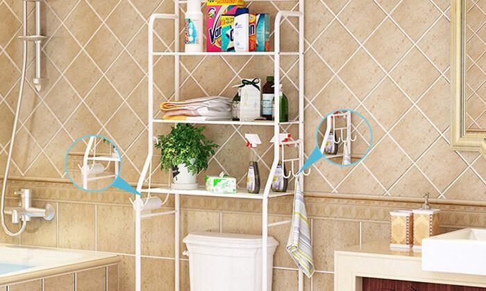 4 יחידת מדפים לחדר האמבטיה