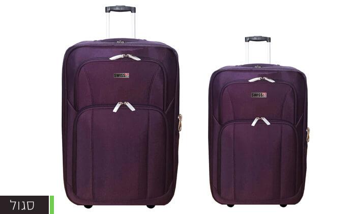 4 סט מזוודות בד 24 ו-28 אינץ' SWISS CLUB