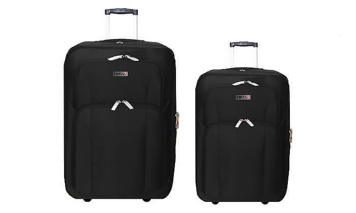 8 סט מזוודות בד 24 ו-28 אינץ' SWISS CLUB
