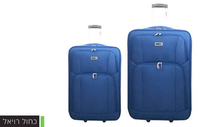 3 סט מזוודות בד 24 ו-28 אינץ' SWISS CLUB
