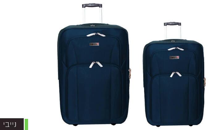 6 סט מזוודות בד 24 ו-28 אינץ' SWISS CLUB