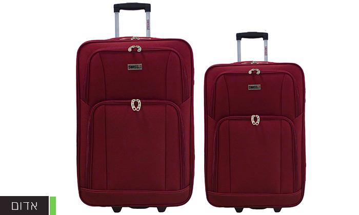 7 סט מזוודות בד 24 ו-28 אינץ' SWISS CLUB
