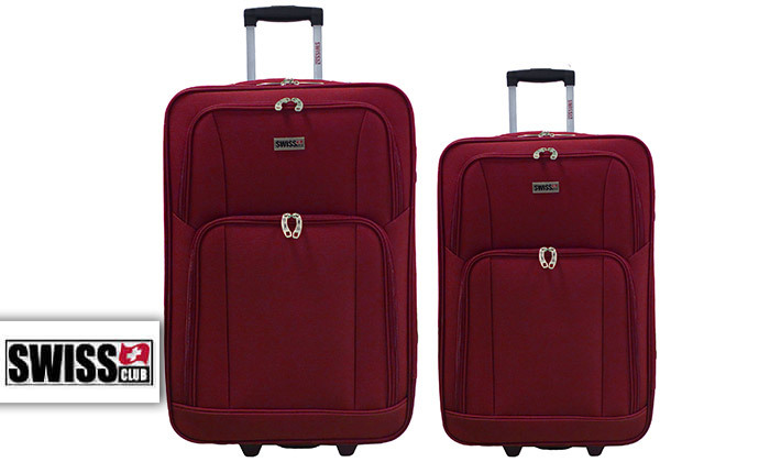 2 סט מזוודות בד 24 ו-28 אינץ' SWISS CLUB
