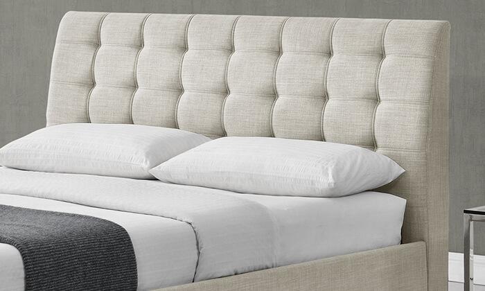 3 מיטה זוגית מרופדת HOME DECOR דגם דרבי