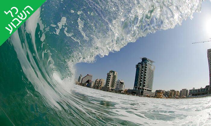 6 שיעור סאפ זוגי או שיעור גלישת גלים קבוצתי - צ'ילי בית ספר לגלישה, תל אביב