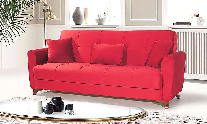 2 ספה תלת מושבית אורטופדית נפתחת