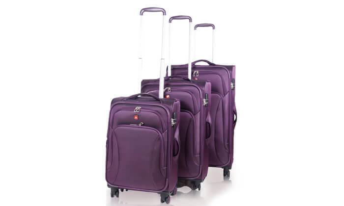 3 סט מזוודות swiss travel