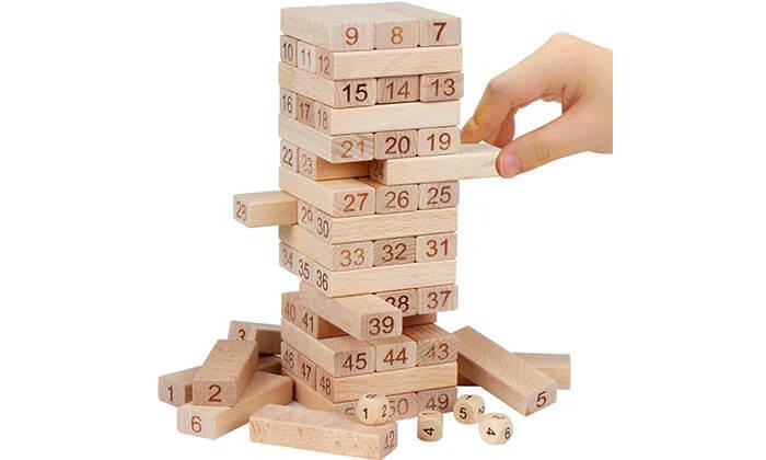 5 משחק ג'נגה מעץ