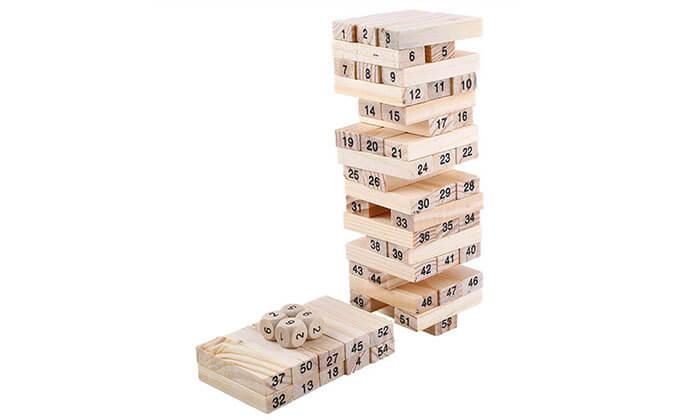 2 משחק ג'נגה מעץ