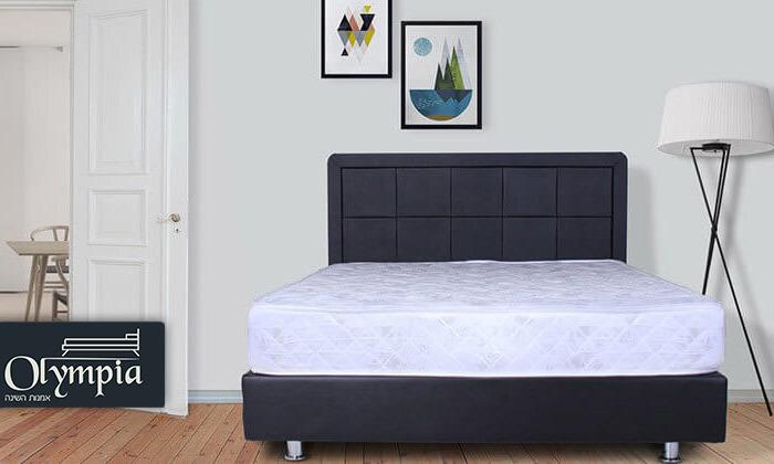 מיטה מרופדת עם מזרן (דגם 6012), כולל ארגז מצעים מתנה