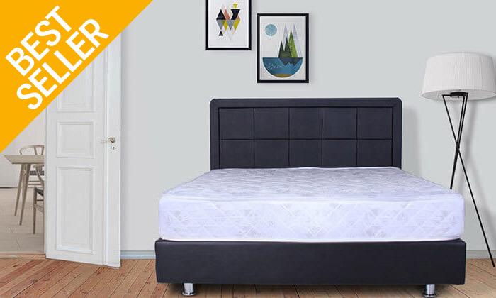 5 מיטה מרופדת עם מזרן (דגם 6012), כולל ארגז מצעים מתנה